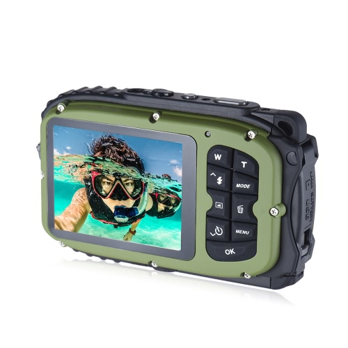 16MP 2.7 LCD Waterproof Digital Video Camera Mini Camcorder DV Underwater Max 10M Diving 8X Digital Zooming Face DetectionCameras &amp; Photo Accessories<br>16MP 2.7 LCD Waterproof Digital Video Camera Mini Camcorder DV Underwater Max 10M Diving 8X Digital Zooming Face Detection<br>