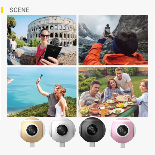 Insta360 Air Compact Mini Panoramic 360 Degree 3K HD Camera Dual Wide Angle Fish Eye Lens VR Mode for OPPO R9/Huawei P9 Mate9/LG VCameras &amp; Photo Accessories<br>Insta360 Air Compact Mini Panoramic 360 Degree 3K HD Camera Dual Wide Angle Fish Eye Lens VR Mode for OPPO R9/Huawei P9 Mate9/LG V<br>