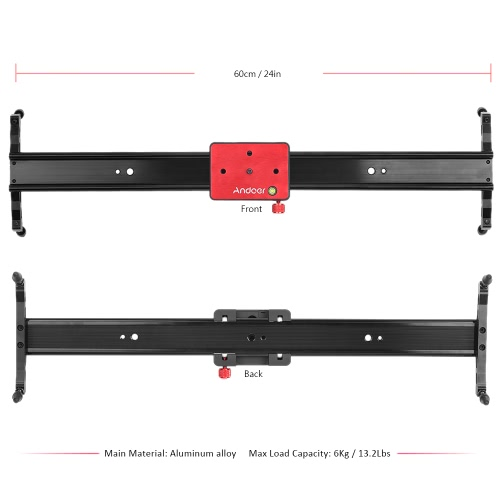 Andoer 60cm Video Track Slider Dolly Track Rail Stabilizer Aluminum Alloy for Canon Nikon Sony Cameras Camcorders Max Load CapacitCameras &amp; Photo Accessories<br>Andoer 60cm Video Track Slider Dolly Track Rail Stabilizer Aluminum Alloy for Canon Nikon Sony Cameras Camcorders Max Load Capacit<br>