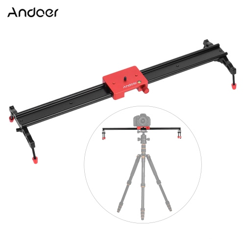 Andoer 60cm/23.6 All Metal Aluminum Alloy Video Track Slider Dolly Rail Stabilizer Max. Load 6kg for Canon Nikon Sony DSLR Cam CaCameras &amp; Photo Accessories<br>Andoer 60cm/23.6 All Metal Aluminum Alloy Video Track Slider Dolly Rail Stabilizer Max. Load 6kg for Canon Nikon Sony DSLR Cam Ca<br>
