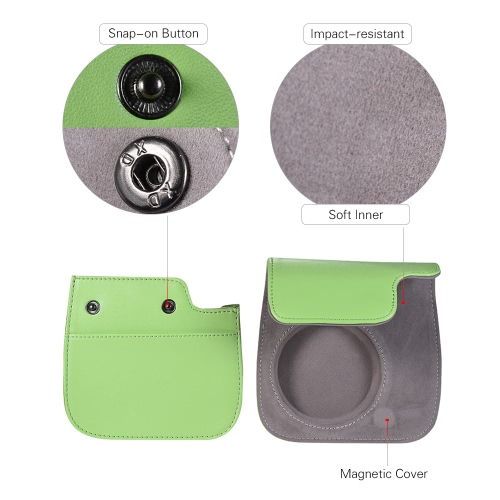 Andoer PU Instant Camera Case Bag with Strap for Fujifilm Instax Mini 9/8/8+/8s Smokey WhiteCameras &amp; Photo Accessories<br>Andoer PU Instant Camera Case Bag with Strap for Fujifilm Instax Mini 9/8/8+/8s Smokey White<br>