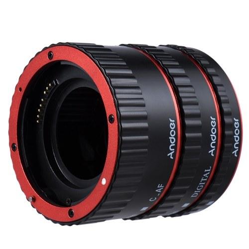 Andoer красочных металлических TTL Auto AF макро расширения трубы кольцо фокусировки для Canon EOS EF EF-S 60 d 7 D 5 D II 550 D красный