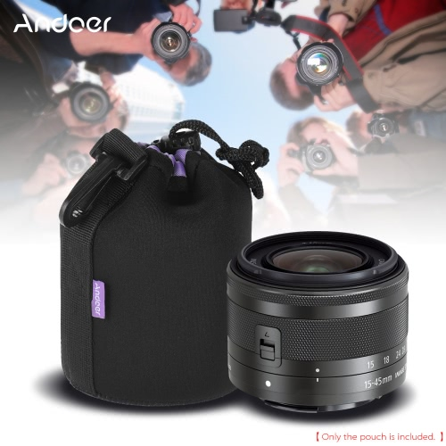 Andoer 4.0 * 3.0 (10.2 * 7.7cm) Small Size Shockproof Water-resistant DSLR Lens Pouch Extra Thick Soft Protective Bag Case ProtecCameras &amp; Photo Accessories<br>Andoer 4.0 * 3.0 (10.2 * 7.7cm) Small Size Shockproof Water-resistant DSLR Lens Pouch Extra Thick Soft Protective Bag Case Protec<br>