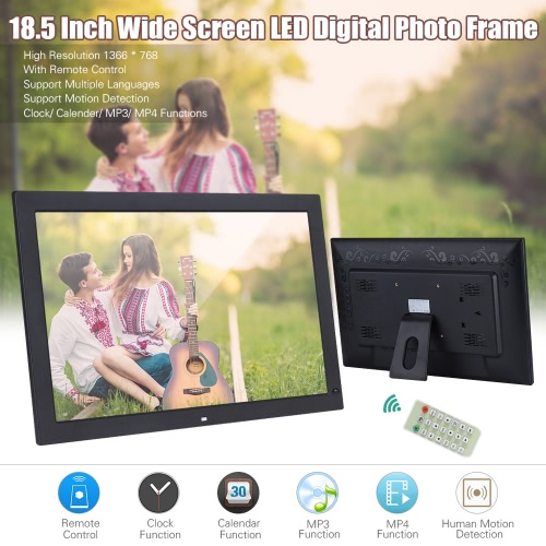 18.5 Wide Screen LED Digital Photo FrameCameras &amp; Photo Accessories<br>18.5 Wide Screen LED Digital Photo Frame<br>