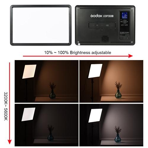 Godox LEDP260C Ultra-thin 30W Dimmable LED Video Light Panel Lamp 3200K-5600K  Bi-color Temperature w/ Wireless Remote Control HanCameras &amp; Photo Accessories<br>Godox LEDP260C Ultra-thin 30W Dimmable LED Video Light Panel Lamp 3200K-5600K  Bi-color Temperature w/ Wireless Remote Control Han<br>