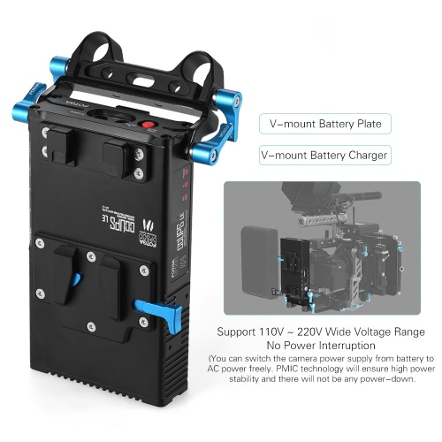 FOTGA DP500III 2 in 1 V-mount Battery Plate Adapter Charger w/ 15mm Rod Clamp for Canon Nikon Sony Camera Camcorder Video Studio SCameras &amp; Photo Accessories<br>FOTGA DP500III 2 in 1 V-mount Battery Plate Adapter Charger w/ 15mm Rod Clamp for Canon Nikon Sony Camera Camcorder Video Studio S<br>