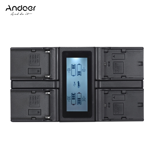 Andoer LP-E6 LP-E6N NP-F970 4-Channel Digital Camera Battery Charger w/ LCD Display for Canon 5DIII 5DS 5DSR 6D 7DII 80D 70D for SCameras &amp; Photo Accessories<br>Andoer LP-E6 LP-E6N NP-F970 4-Channel Digital Camera Battery Charger w/ LCD Display for Canon 5DIII 5DS 5DSR 6D 7DII 80D 70D for S<br>