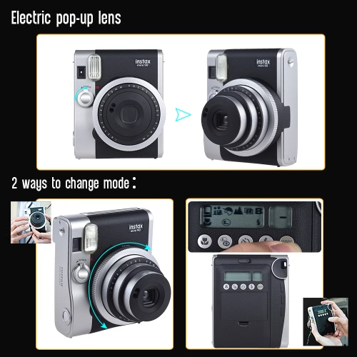 Fujifilm Instax Mini 90 Neo Classic Instant Camera Photo Film Cam w/ LCD Screen Support Macro Photography Double Exposure B ShutteCameras &amp; Photo Accessories<br>Fujifilm Instax Mini 90 Neo Classic Instant Camera Photo Film Cam w/ LCD Screen Support Macro Photography Double Exposure B Shutte<br>