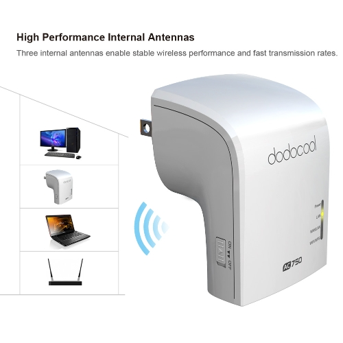dodocool AC750 Dual Band Wireless Wi-Fi AP / Repeater / Router Simultaneous 2.4GHz 300Mbps and 5GHz 433MbpsComputer &amp; Stationery<br>dodocool AC750 Dual Band Wireless Wi-Fi AP / Repeater / Router Simultaneous 2.4GHz 300Mbps and 5GHz 433Mbps<br>