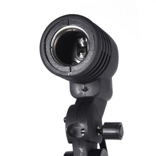 E27 Bulb Titular soquete do Flash suporte giratório Photo Light Mount Lamp
