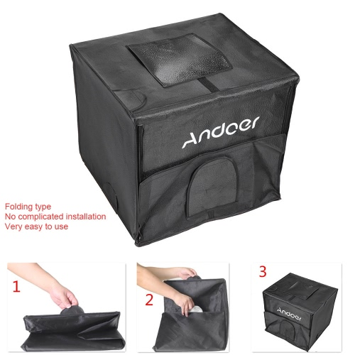 Andoer 40*35*35cm Foldable Photography Studio LED Light Tent Kit Softbox with 2 Light Panels 3 Color Backdrops Power Adapter CarryCameras &amp; Photo Accessories<br>Andoer 40*35*35cm Foldable Photography Studio LED Light Tent Kit Softbox with 2 Light Panels 3 Color Backdrops Power Adapter Carry<br>