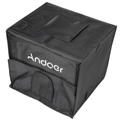 Андоер Складная фотостудия Светодиодный свет Палатка Kit Softbox