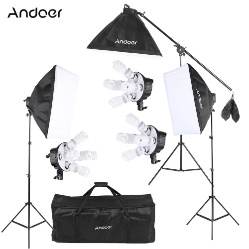 Andoer Studio Photo Video Softbox Lighting Kit Photo EquipmentCameras &amp; Photo Accessories<br>Andoer Studio Photo Video Softbox Lighting Kit Photo Equipment<br>
