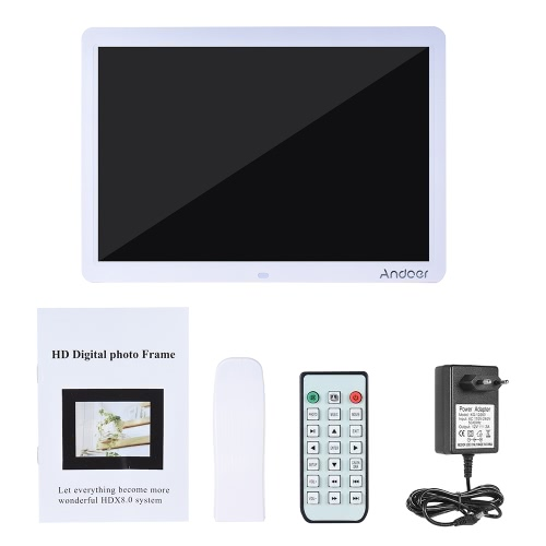 Andoer 15 Wide Screen HD LED Digital Picture Frame Digital Album High Resolution 1280*800 Electronic Photo Frame with Remote ContCameras &amp; Photo Accessories<br>Andoer 15 Wide Screen HD LED Digital Picture Frame Digital Album High Resolution 1280*800 Electronic Photo Frame with Remote Cont<br>