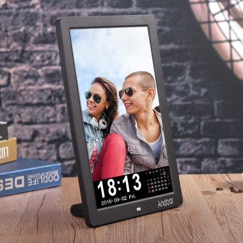 Andoer 12 LED HD Digital Photo Picture Frame 1280 * 800 Desktop Frame Support MP3/MP4/E-book/Calender/Alarm Clock Function with RCameras &amp; Photo Accessories<br>Andoer 12 LED HD Digital Photo Picture Frame 1280 * 800 Desktop Frame Support MP3/MP4/E-book/Calender/Alarm Clock Function with R<br>