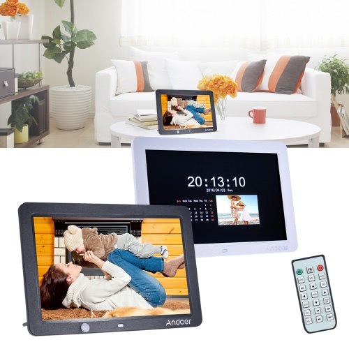 Andoer 12 Inch LED Digital Photo Frame 1280 * 800 Human Motion Induction Detection with Remote Control Support MP3/MP4/Calendar/AlCameras &amp; Photo Accessories<br>Andoer 12 Inch LED Digital Photo Frame 1280 * 800 Human Motion Induction Detection with Remote Control Support MP3/MP4/Calendar/Al<br>