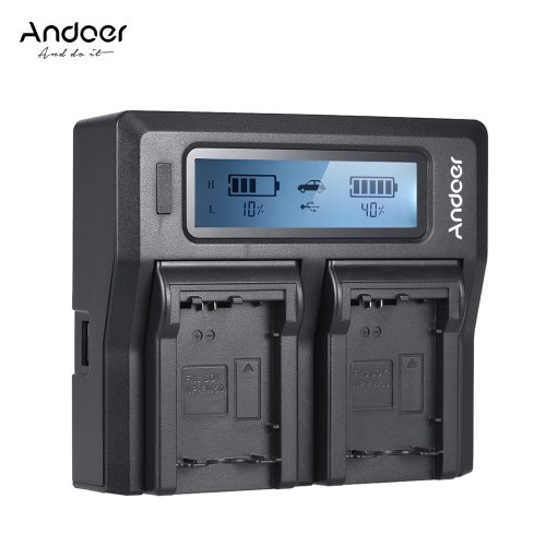 Andoer NP-FW50 NPFW50 Dual Channel Digital Camera Battery Charger w/ LCD Display for Sony ?7 ?7R ?7sII ?7II ?6500 A6300 ?7RII NEXCameras &amp; Photo Accessories<br>Andoer NP-FW50 NPFW50 Dual Channel Digital Camera Battery Charger w/ LCD Display for Sony ?7 ?7R ?7sII ?7II ?6500 A6300 ?7RII NEX<br>