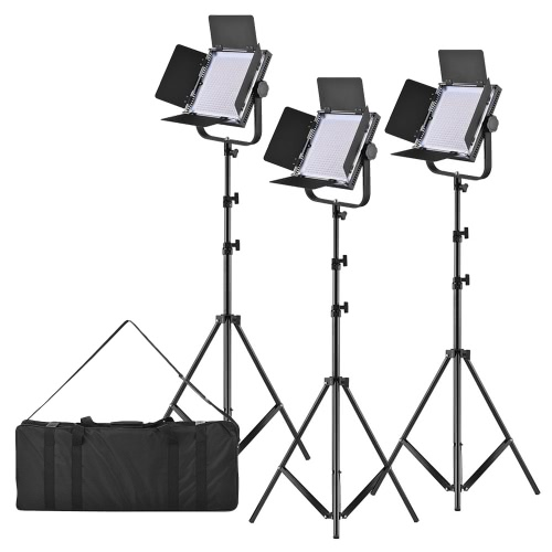 LED-320A 3pcs LED Video Light Panel 25W Dimmable 340pcs Beads with 197cm/78 Metal Light Stand/U-Bracket/Barn Door/Filter/Carry BaCameras &amp; Photo Accessories<br>LED-320A 3pcs LED Video Light Panel 25W Dimmable 340pcs Beads with 197cm/78 Metal Light Stand/U-Bracket/Barn Door/Filter/Carry Ba<br>