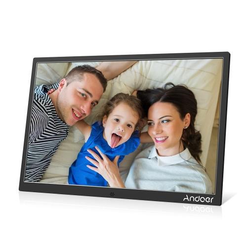 Andoer 15.4inch Aluminum Alloy LED Digital Photo Frame