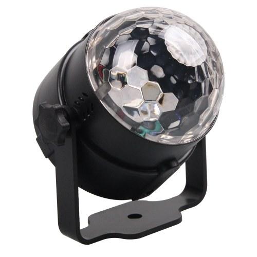 サウンドアクティブミニRGB LEDクリスタルマジックボール効果舞台照明
