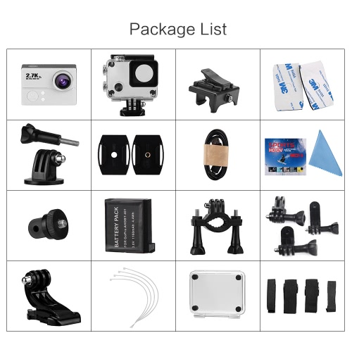 2.0 Inch LCD 2.7K 30FPS 45M Waterproof Ultra-HD 1080P 60FPS 14MP Wifi Action Camera with FPV 170° Wide-Angle LensCameras &amp; Photo Accessories<br>2.0 Inch LCD 2.7K 30FPS 45M Waterproof Ultra-HD 1080P 60FPS 14MP Wifi Action Camera with FPV 170° Wide-Angle Lens<br>