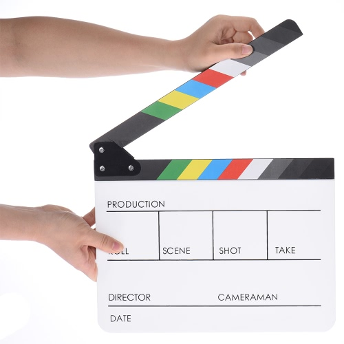 10 x 12 / 24.5 x 30cm Acrylic Dry Erase Clap-stick Clapper Board Slate for Film Movie Cut Action SceneCameras &amp; Photo Accessories<br>10 x 12 / 24.5 x 30cm Acrylic Dry Erase Clap-stick Clapper Board Slate for Film Movie Cut Action Scene<br>