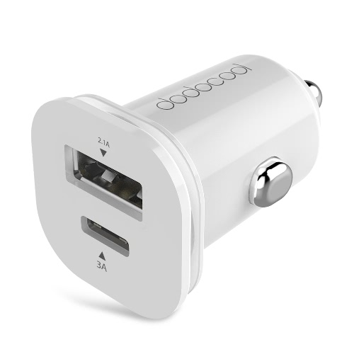 dodocool 25.5W Mini Dual USB Car Charger Adapter with USB Type-C Port and Standard USB Type-A Port Cigarette Lighter Charger RapidCellphone &amp; Accessories<br>dodocool 25.5W Mini Dual USB Car Charger Adapter with USB Type-C Port and Standard USB Type-A Port Cigarette Lighter Charger Rapid<br>