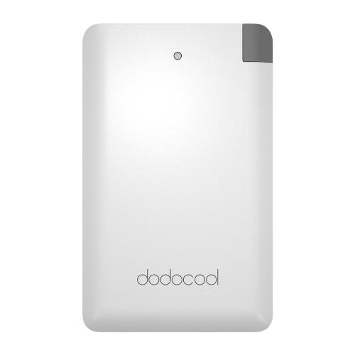 dodocool MFi Ultrafin Authentique 2500mAh Chargeur Portable Copie Batterie External Pack Power Bank avec un Micro USB Câble intégré et Adapteur de luminosité pour Smartphones Blanc