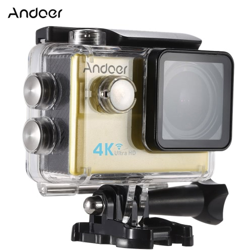 Andoer? Waterproof Ultra HD 2.0 LCD 16MP 4K 1080P 60FPS 4X Zoom WiFi 25mm 173 Degree Wide-Lens Action Sports CameraCameras &amp; Photo Accessories<br>Andoer? Waterproof Ultra HD 2.0 LCD 16MP 4K 1080P 60FPS 4X Zoom WiFi 25mm 173 Degree Wide-Lens Action Sports Camera<br>