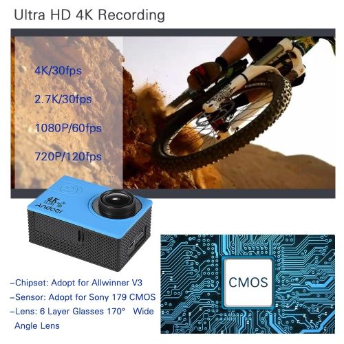 2 LCD V3 4K 30fps 16MP WiFi Action Sports CameraCameras &amp; Photo Accessories<br>2 LCD V3 4K 30fps 16MP WiFi Action Sports Camera<br>