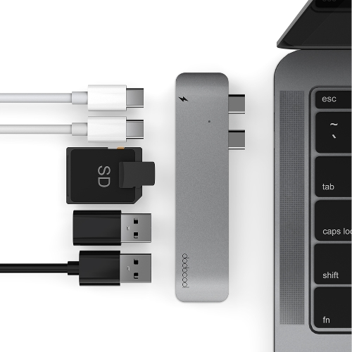 "dodocool Aluminum Alloy Dual USB-C Hub Multiport Adapter for 13"" or 15"" MacBook ProComputer &amp; Stationery<br>dodocool Aluminum Alloy Dual USB-C Hub Multiport Adapter for 13"" or 15"" MacBook Pro<br>"