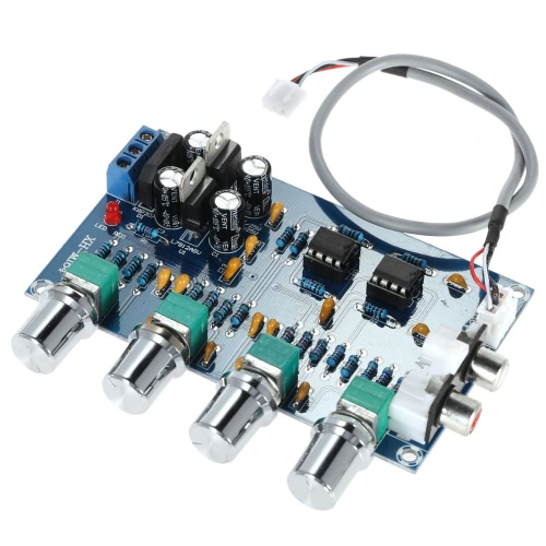 NE5532 Stereo Pre-amp Preamplifier Tone Board Audio 4 Channels Amplifier BoardTest Equipment &amp; Tools<br>NE5532 Stereo Pre-amp Preamplifier Tone Board Audio 4 Channels Amplifier Board<br>