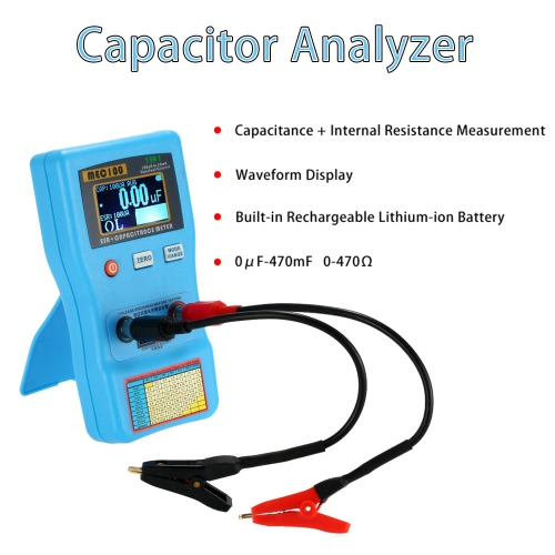 2 in 1 Digital Auto-ranging 0-470? Capacitor ESR Meter 0?F-470mF Capacitance Tester Internal Resistance Measurement with SMD TestTest Equipment &amp; Tools<br>2 in 1 Digital Auto-ranging 0-470? Capacitor ESR Meter 0?F-470mF Capacitance Tester Internal Resistance Measurement with SMD Test<br>