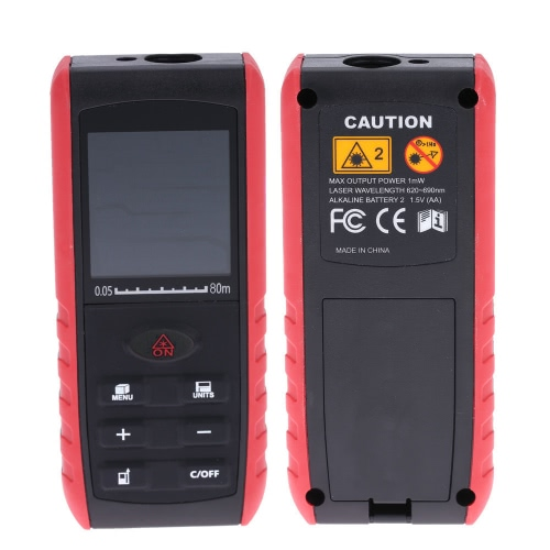 80m Portable Handheld Digital Laser Distance Meter Range Finder Area Volume Measurement with Angle IndicationTest Equipment &amp; Tools<br>80m Portable Handheld Digital Laser Distance Meter Range Finder Area Volume Measurement with Angle Indication<br>