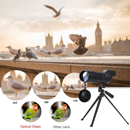 KKmoon 15-45x60mm Zoom Spotting Scope Telescope Multi-Coated Optical Lens 180° with Tripod &amp; Carrying Bag for Birdwatching HuntingTest Equipment &amp; Tools<br>KKmoon 15-45x60mm Zoom Spotting Scope Telescope Multi-Coated Optical Lens 180° with Tripod &amp; Carrying Bag for Birdwatching Hunting<br>