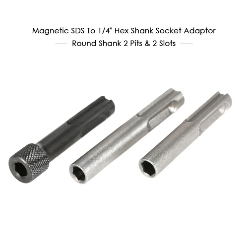3PCS Magnetic SDS To 1/4 Hex Shank Socket Driver Drill Bit Converter Screwdriver Holder Adaptor For SDS Hammer Drilling ToolTest Equipment &amp; Tools<br>3PCS Magnetic SDS To 1/4 Hex Shank Socket Driver Drill Bit Converter Screwdriver Holder Adaptor For SDS Hammer Drilling Tool<br>