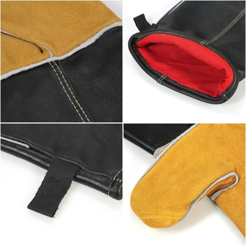 Heat Resistant Grill Oven Gloves 482?(250?) Heat Proof Leather BBQ Stove Fireplace Cooking Baking Electric Soldering Barbecue GlovTest Equipment &amp; Tools<br>Heat Resistant Grill Oven Gloves 482?(250?) Heat Proof Leather BBQ Stove Fireplace Cooking Baking Electric Soldering Barbecue Glov<br>