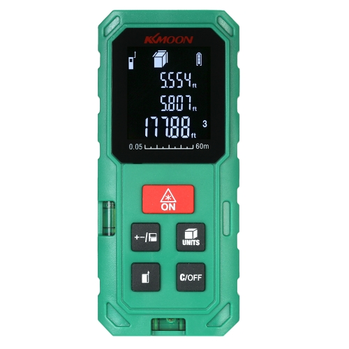 KKmoon 60m Portable Handheld Digital Laser Distance Meter High Precision Range Finder Length Area Volume Measurement 20 Group DataTest Equipment &amp; Tools<br>KKmoon 60m Portable Handheld Digital Laser Distance Meter High Precision Range Finder Length Area Volume Measurement 20 Group Data<br>