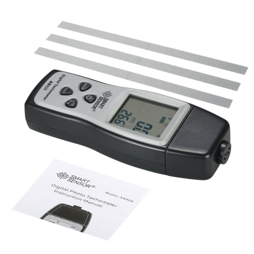 SMART SENSOR Professional Handheld Digital Photo Tachometer Laser Non-Contact Tach Range 100RPM-30000RPM LCD Display Motor Speed MTest Equipment &amp; Tools<br>SMART SENSOR Professional Handheld Digital Photo Tachometer Laser Non-Contact Tach Range 100RPM-30000RPM LCD Display Motor Speed M<br>