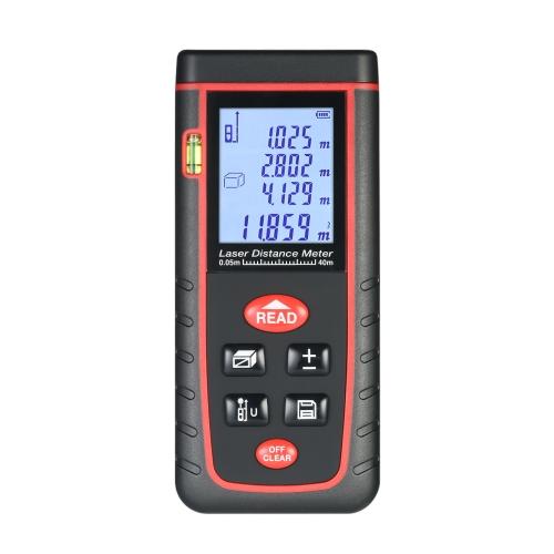 40m Mini Handheld LCD Цифровой лазерный дистанционный измеритель Высокоточное измерение дальности дальности Расстояние измерения объема 30 групп Хранилище данных