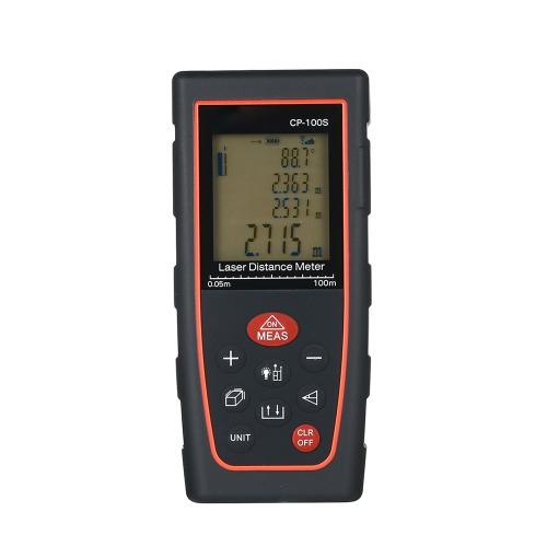 Strumento portatile per la misurazione del volume dell'area di misurazione del misuratore di distanza laser digitale LCD Precisione ± 2 mm Ricerca del range di precisione Misurazione dello spazio di archiviazione dei dati con retroilluminazione