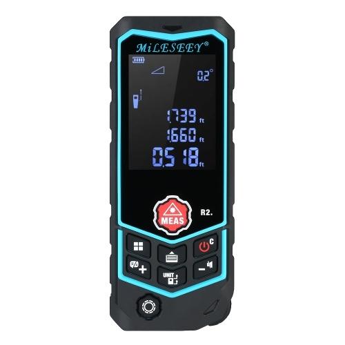 Misuratore di portata ricaricabile portatile Misuratore di distanza laser MiLESEEY 100m