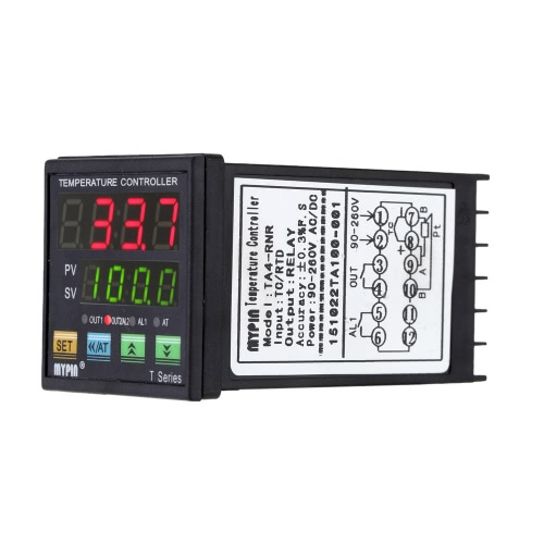 Digital LED PID Temperature Controller Thermometer Heating Cooling Control SSR 2 Alarm Relay Output TC/RTDTest Equipment &amp; Tools<br>Digital LED PID Temperature Controller Thermometer Heating Cooling Control SSR 2 Alarm Relay Output TC/RTD<br>