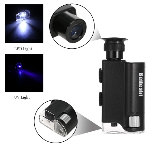 160-200X Multifunctional Microscope with LED and UV Light Loupe Magnifier Adjustable Magnification Focus Magnifying ToolTest Equipment &amp; Tools<br>160-200X Multifunctional Microscope with LED and UV Light Loupe Magnifier Adjustable Magnification Focus Magnifying Tool<br>