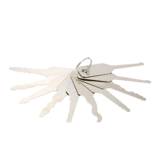 10pcs chaves Lock Picks conjunto para Double face a ferramenta do Locksmith profissional Lock
