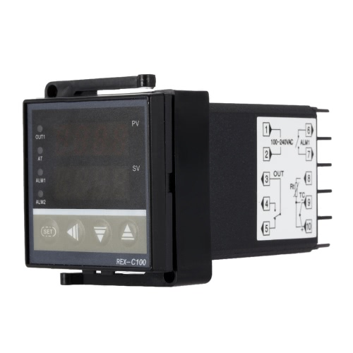 4.8*4.8*8.5cm Digital LED PID Temperature Controller Thermostat Thermometer Heating Control 1 Alarm