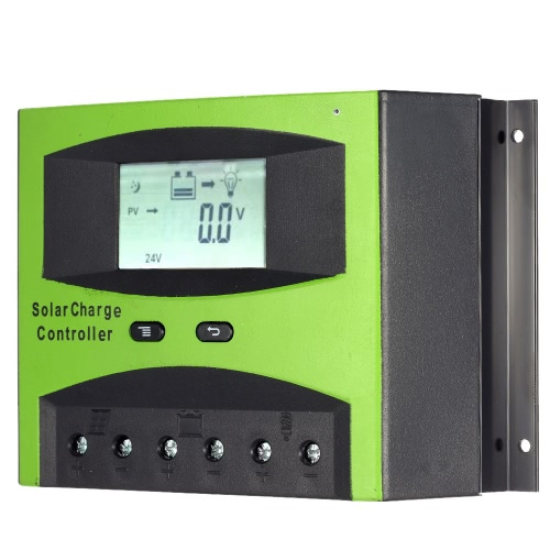 60A 12V/24V Solar Charge Controller PWM Charging Temperature Compensation Overload Protection LCD Display for Solar Off-grid SysteTest Equipment &amp; Tools<br>60A 12V/24V Solar Charge Controller PWM Charging Temperature Compensation Overload Protection LCD Display for Solar Off-grid Syste<br>