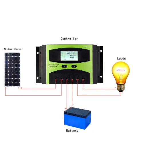 30A 12V/24V Solar Charge Controller PWM Charging Temperature Compensation Overload Protection LCD Display for Solar Off-grid SysteTest Equipment &amp; Tools<br>30A 12V/24V Solar Charge Controller PWM Charging Temperature Compensation Overload Protection LCD Display for Solar Off-grid Syste<br>