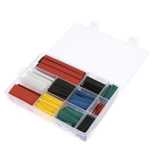 300pcs Colorful Polyolefin Halogen-Free Heat Shrink Tubing Tube Sleeving Wrap Wire Cable Kit Shrink Ratio 2:1 ?1.0-?14mmTest Equipment &amp; Tools<br>300pcs Colorful Polyolefin Halogen-Free Heat Shrink Tubing Tube Sleeving Wrap Wire Cable Kit Shrink Ratio 2:1 ?1.0-?14mm<br>