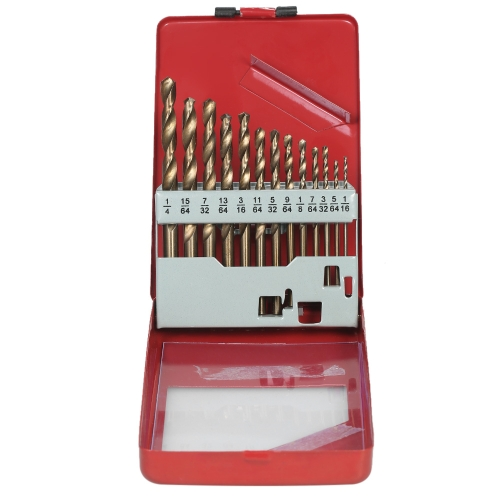 13pcs Super-hard HSS 4341 Drill Bit Set Drills Bits with Round ShanksTest Equipment &amp; Tools<br>13pcs Super-hard HSS 4341 Drill Bit Set Drills Bits with Round Shanks<br>
